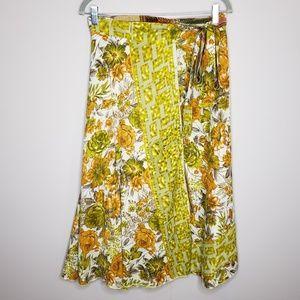 Iris Impressions Reversible Layered Wrap Skirt OS